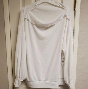 Free people white sweater